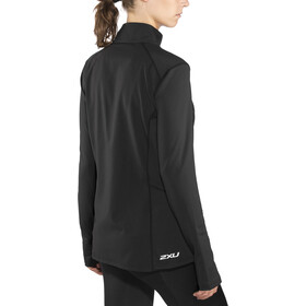 2XU XVENT 1/4 Cremallera Camiseta manga larga Mujer, black/black